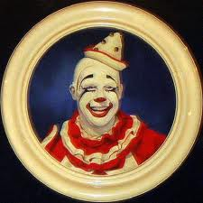 Pierrot whiteface clown